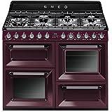 Smeg TR4110RW1 Autonome Cuisinière à gaz A Violet four et cuisinière - fours et cuisinières (Cuisinière, Violet, Rotatif, Cuisinière à gaz, Small, Moyen)
