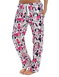 PajamaMania Women's Sleepwear Flannel Pajama PJ Pants