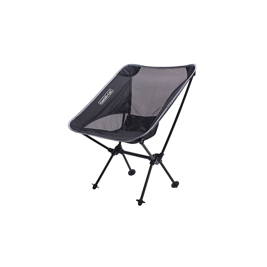 Lightweight Folding Camping Backpacking Chair Updated Ultralight Portable Foldable Outdoor Camp Chairs for Hiking Motorcycling Fishing Car Travel Picnic Beach Lounging Touring