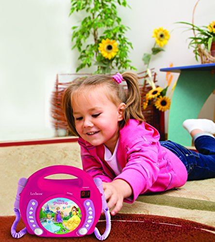 Lexibook Disney Princess Rapunzel CD player for kids with 2