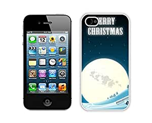 Recommend Design Iphone 4S Protective Skin Case Merry Christmas White iPhone 4 4S Case 8