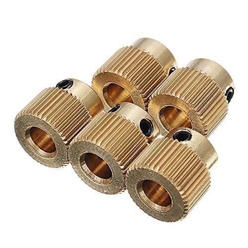 SHIYM-XCL, 5 Piezas 40 Dientes 5 mm latón Rueda de extrusión ...