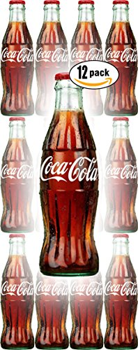 Coca-Cola, 8 Fl Oz Glass Coke Bottle (Pack of 12, Total of 96 Oz) (Mini Coca Cola Glass)