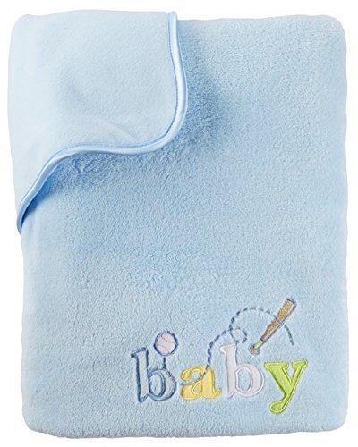 Plush Wearable Blanket - Carter's Baby Boys' One Size Velboa Plush Blanket, Blue, One Size