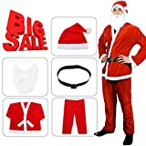 ALIZIWAY Santa Claus Costume Suit for Men Adults Velvet Holiday Party Cosplay Costumes Y022