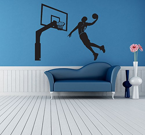 Wall Sticker Basketball Wall Decals Inspiration Sport Removable Room Decor Wall Art for Living Room Bedroom