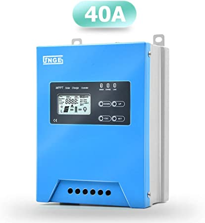 SolaMr 100A MPPT Solar Charge Controller 12V//24V Solar Panel Battery Charge Regulator with LCD Display and Dual USB Port 100A