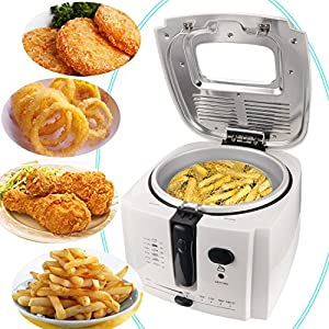 Meykey Electric Deep Fryer with Cool Touch 1.9 Liter Oil Capacity 1500W