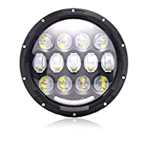 AUSI DOT Harley Davidson 7In 78w Round LED Headlight With DRL Amber Turn Singal Hi/Lo Beam For Road King Ultra Classic Street Glide Fatboy Electra Glide FLHXS FLHP FLRT Softail Ultra Classic Yamaha