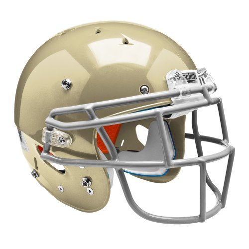 Schutt Sports Youth Recruit Hybrid Football Helmet without Faceguard, Small, Metallic Vegas (Gold Tackle)