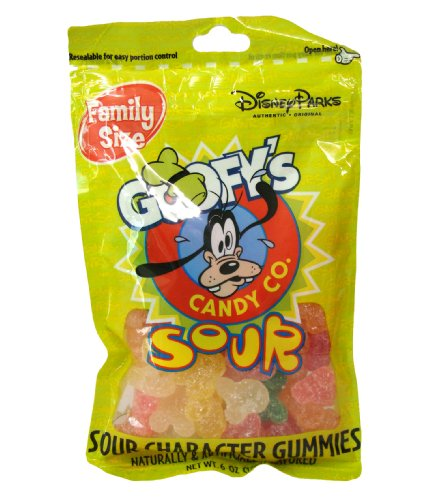 - Disney World Parks Goofy Candy Co. Assorted Flavor Sour Character Gummies Family Size 6 oz. Bag Sealed - NEW