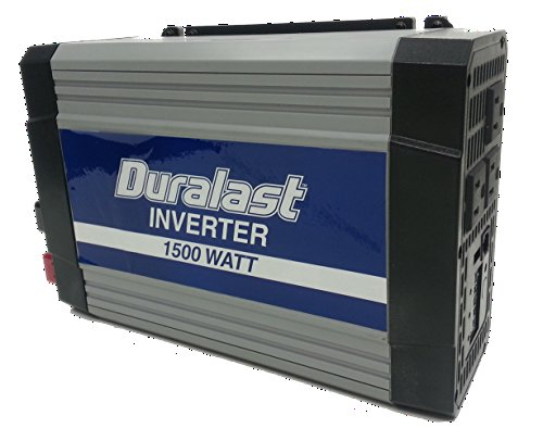Duralast 1500W Power Inverter DC 12V to 110V Car AC w/Battery Cables & 2.1A - 34r Wires