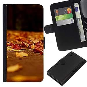 JackGot ( Natura Bella Forrest verde 191 ) Sony Xperia Z2 D6502 la tarjeta de Crédito Slots PU Funda de cuero Monedero caso cubierta de piel