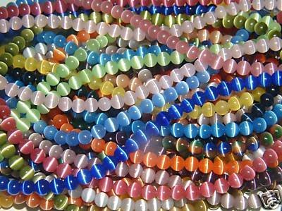 (10 Strands) Cat-8mm-Assorted Cat's Eye Beads -