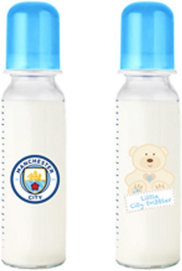 Manchester City FC - Pack de dos biberones infantiles (Talla Única ...