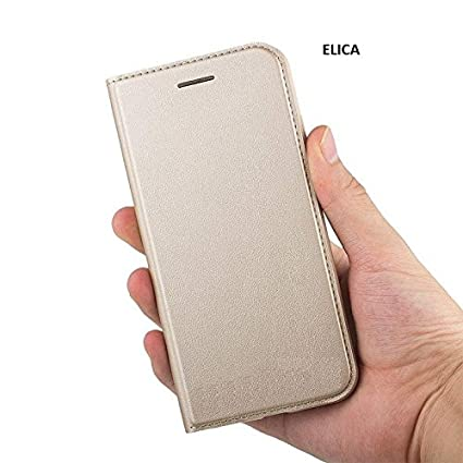 ELICA A1 Series Magnetic Wallet Case Flip Cover for Samsung Galaxy C9 Pro   Gold Mobile Phone Cases   Covers