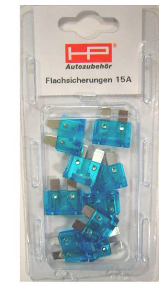 HP Autozubeh/ör STECKSICHERUNGEN Set Blau 15 AMP Din 72581 Plug in Fuse Set