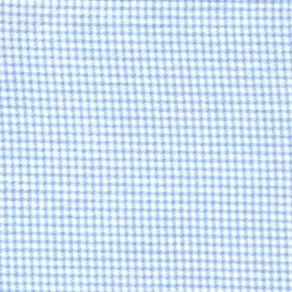 Blue Gingham 100% Cotton Flannel Baby Fabric by The Yard Made in USA - Gingham Flannel Fabric