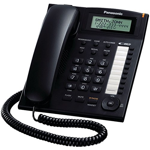 Panasonic Single-Line Corded Integrated Phone System With 10 One-Touch Dialer Stations (Black)