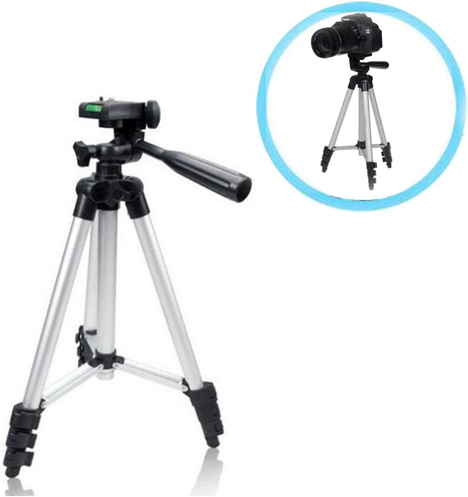 with Carrying Bag Walway Foldable Lightweight Aluminum Travel Tripod for Most Video Camera//Digital Camera//GoPro//Smartphones and DSLR