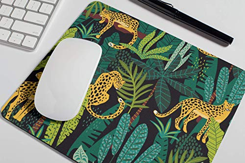 Amazon Com Cheetah Mouse Pad Cute Leopard Tropical Mousepad