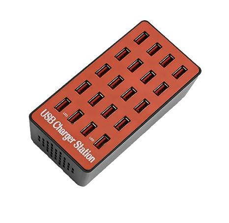 SJSJ Cargador USB multipuerto 20-40 Cargador de Puerto ...