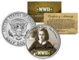 World War II ANNE FRANK Colorized JFK Half Dollar US Coin THE HOLOCAUST DIARY OF by Merrick Mint