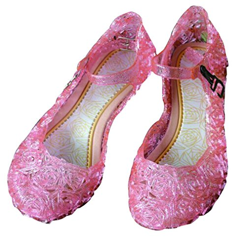 Children Girl's Cute Jelly Sandals Summer Beach Kids Shoes 12 M US Pink (Cute Childrens Shoes)