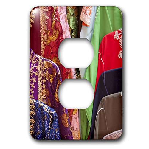 3dRose lsp_75540_6 Caftan Textiles, Fes Medina, Morocco-Af29 Wsu0201 - William Sutton - 2 Plug Outlet (Rose Caftan)