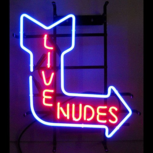 """New Live Nudes Neon Light Sign Home Beer Bar Pub Recreation Room Game Room Windows Garage Wall Sign 17w""""x 14""""h"""