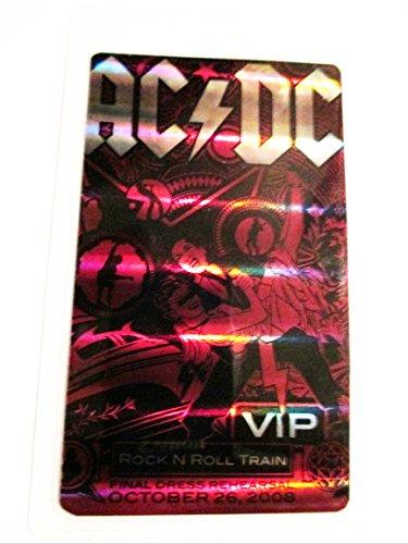 2008 10/26 AC/DC Hologram Laminated Backstage Pass V.i.p. Rock N Roll Train (Ac Dc Rock N Roll Train Live)