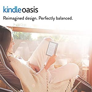 "Kindle Oasis E-reader with Leather Charging Cover - Black, 6"" High-Resolution Display (300 ppi), Wi-Fi + Free Cellular Connectivity, Built-In Audible - Includes Special Offers (Previous Generation - 8th)"