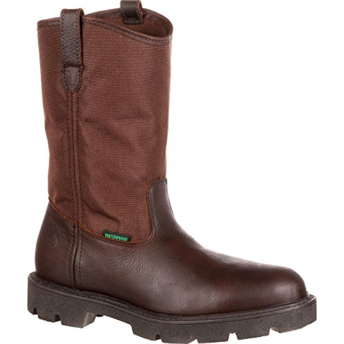 Georgia Men's Homeland Wellington Work Boot-M Pull, Brown, 10.5 M US