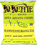 kettle chip pepperoncini - Kettle Brand Kettle Gluten Free Chips Pepperoncini 8.5oz Snack Care Package for College, Military, Sports (2)