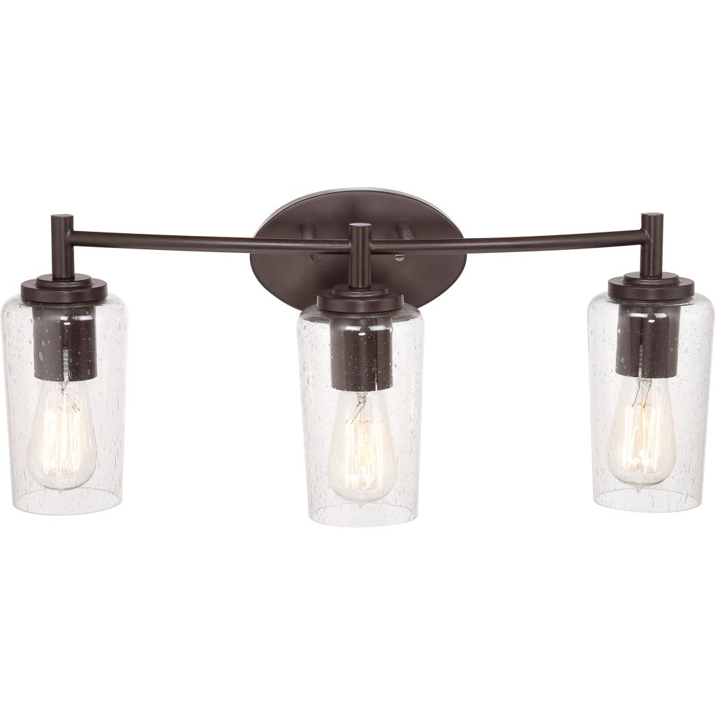 reputable site f0654 99205 Quoizel EDS8603WT Edison Farmhouse Vanity Bath Lighting, 3-Light, 300  Watts, Western Bronze (10