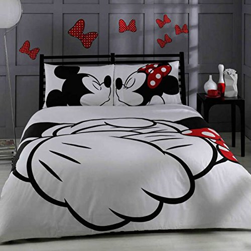 Disney, Mickey & Minnie in Love, Queen Size (Bedding Sets Mickey Mouse Queen)