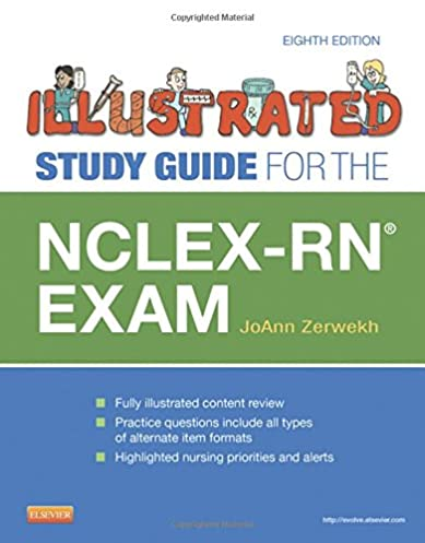 illustrated study guide for the nclex rn exam 8e 9780323082327 rh amazon com Nce Exam Study Guide Exam Study Guide Book