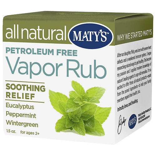Maty's All Natural Vapor Rub Soothing Relief 1.50 oz (Pack of 3) ()