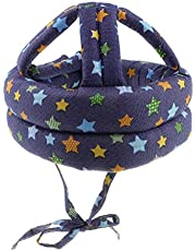 Baoblaze Adjustable Safety Helmet Headguard Protective Harnesses Cap for Baby Children Infant Toddler, Learning to Crawl Walk Playing - Star B Pattern