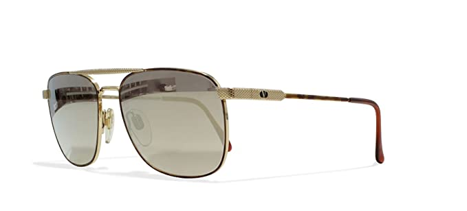c79e9a4b2e3 Image Unavailable. Image not available for. Color  Valentino V429 962 Gold  Vintage Sunglasses Square ...