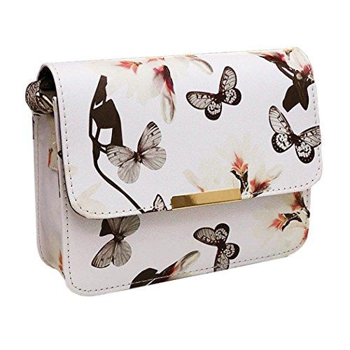 Women Printing Shoulder Bag PU Leather Purse Satchel Messenger Bag - 4