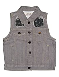 Agile Boys Casual Denim Vest For Outdoot Travel Sports All Sizes (Age 1-20)