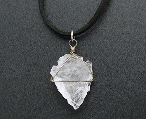 Fundamental Rockhound: Crystal Quartz Arrowhead Necklace Pendant on 18