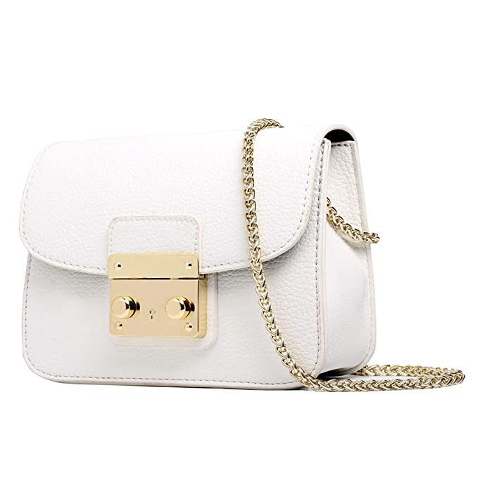 9282f72b3 Image Unavailable. Image not available for. Color: Small Chain bags for Women  White Crossbody ...