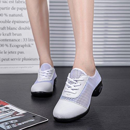 Ejercicio Baile HWF de Suave Adulto Tamaño para Zapatos de de mujer Malla de Mujer Color Deporte de de Black White Black Malla para Zapatos White 37 Mujer de Verano Zapatos w6X06q