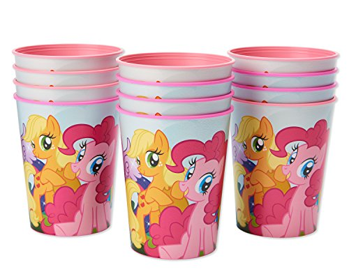American Greetings My Little Pony Paper Plastic Cups, 12-Count, Stadium