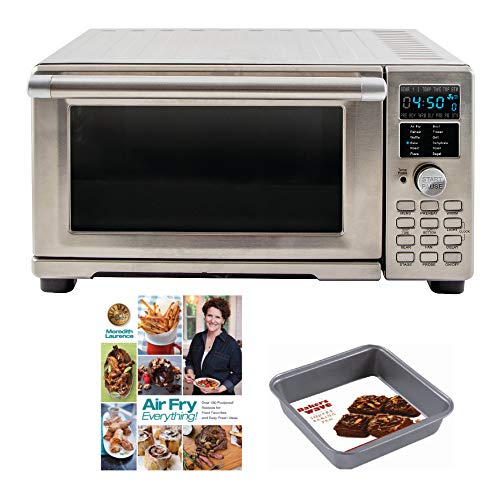 NuWave 20801 Bravo XL Air Fryer/Toaster Oven w/Digital Temperature Probe + Air Fry Cookbook and Square Pan Accessory Bundle