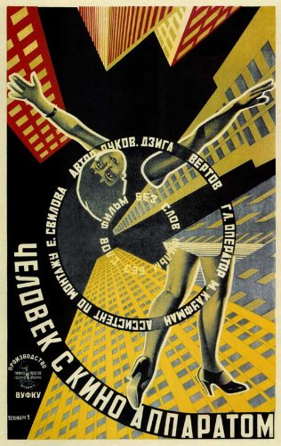 Man with a Movie Camera Movie Poster - Russian Style A
