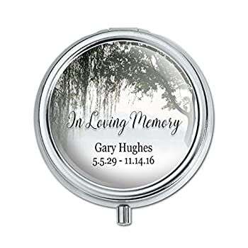 Graphics and More Personalized Custom In Loving Memory Willow Tree Memorial Pill Case Trinket Gift Box