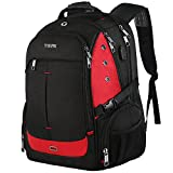 17 Inch Laptop Backpack,Extra Large Travel Backpacks with USB Charging Port for Business Women Mens, Large Capacity Bookbag for College School Student,TSA Friendly Water Resistant Computer Bagpack Red